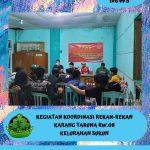 Koordinasi dan Rapat Anggota Karang Taruna RW.08 Bahas Penguatan Anggota.
