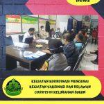 Giat Koordinasi Kelurahan Sukun Bahas Serbuan Vaksinasi dan Relawan Covid-19