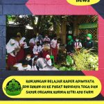 Kunjungan Belajar Kader Adiwiyata SDN Sukun 3 ke Pusat Budidaya Toga dan Sayur Organik Kurnia Kitri Ayu Farm