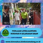 Penilaian Lomba Kampung Bersinar di wilayah Kelurahan Sukun Kota Malang